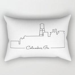 Skyline Outline Rectangular Pillow