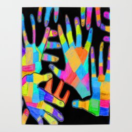 Hands of colors | Hands of light Poster