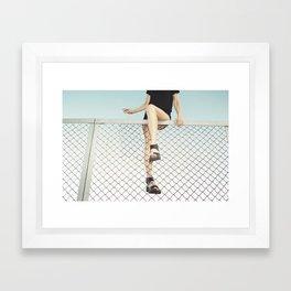 Hoping Fences Framed Art Print