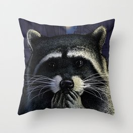 Urban raider Throw Pillow
