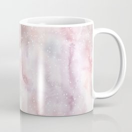 Mauve pink lilac white watercolor paint splatters Coffee Mug