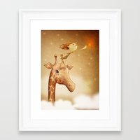 star Framed Art Prints featuring Star by José Luis Guerrero