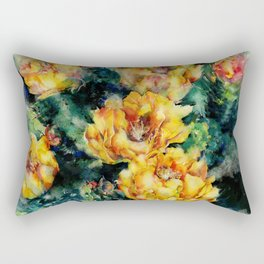 Prickly Pear Cactus by Kathy Morton Stanion Rectangular Pillow