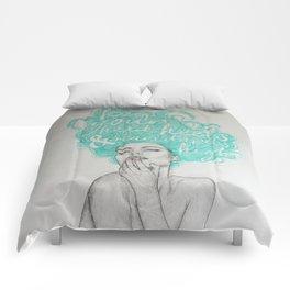 KEEP YOUR HEAD, HEELS & STANDARDS HIGH Comforters