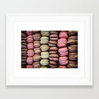 macarons Framed Art Prints featuring Macarons by Tanya Harrison Photography