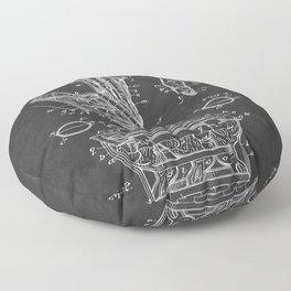 Chocolate Bunny Vintage Patent Floor Pillow