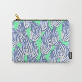 Oyster Shells - Fluorescent Mint Background Carry-All Pouch