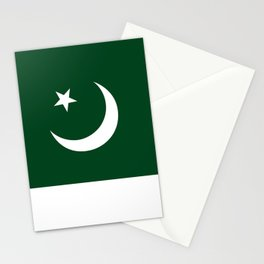 The National Flag of Pakistan - Authentic Version Stationery Cards