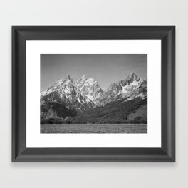 Ansel Adams - Grass Valley and Grand Tetons Framed Art Print