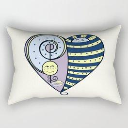 Freckled Moon Resting Sun Heart Rectangular Pillow
