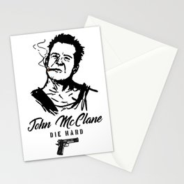 John Mclane, Die hard, Action Hero Stationery Cards