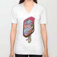 icecream V-neck T-shirts featuring Icecream pop by makapa