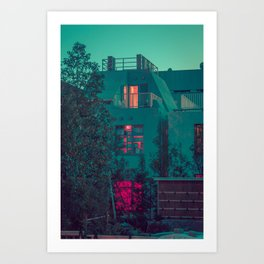 RED LIGHT - TOKYO Art Print