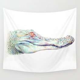 Albino Alligator Wall Tapestry