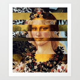 Leonardo Da Vinci'sMona Lisa & Botticelli's Venus Art Print