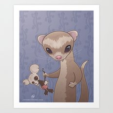 Fizzy The Ferret Art Print