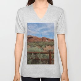 Vertical Arches National Park Unisex V-Neck