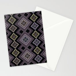 Folk beads circles ethnic pattern Stationery Cards