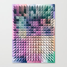 abstract volumetric geometric background with peak Canvas Print