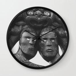 Maori Tribal Totem Wall Clock