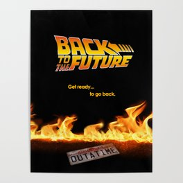 Back to the future Art Concept poster Poster