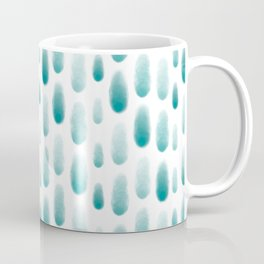 Rainy Day in Turquoise Watercolor Coffee Mug