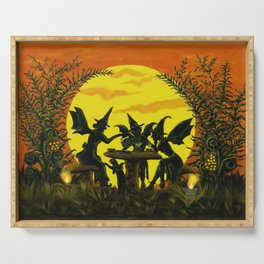 """Halloween witches floor mat """"Reading the tea leaves..."""" Serving Tray"""