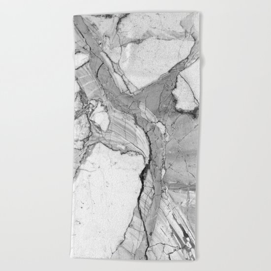 Grey marble Beach Towel