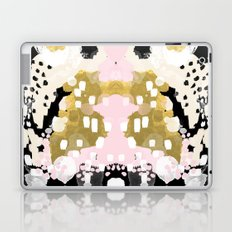 Simone - abstract painting gold foil trendy hipster pastel pink modern trendy colors decor college Laptop & iPad Skin