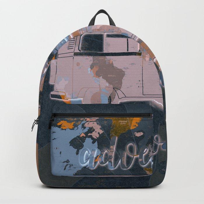 world map-adventure awaits 5 Backpack