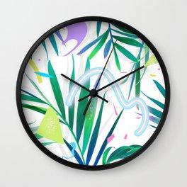 summer motel pattern Wall Clock