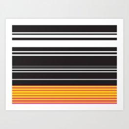 Stripy Road Art Print