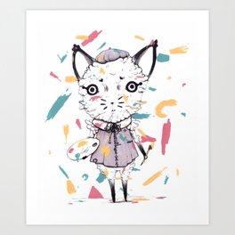 Adding Paint Art Print