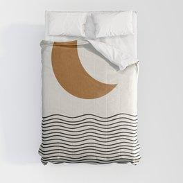 Moon by the ocean Comforters