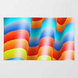Serape Rainbow Stripes Rug
