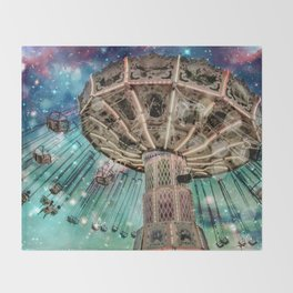 Dip Your Toes In the Stars Throw Blanket