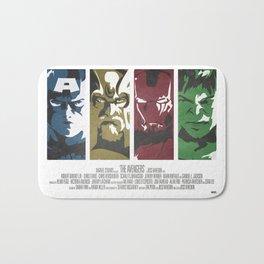 Vintage Avengers Film Poster Bath Mat