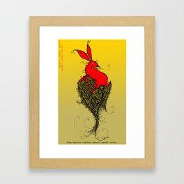 Chinese Zodiac Rabbit Framed Art Print
