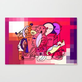 Red White Commotion Canvas Print