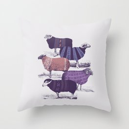 Cool Sweaters Throw Pillow