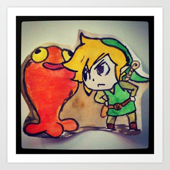Link from Zelda Art Print
