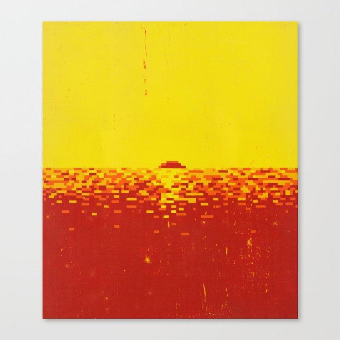 Sunset Pixels Canvas Print