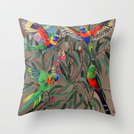 Birds of Paradise. Throw Pillow