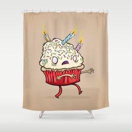 Cupcake zombie 8 Shower Curtain