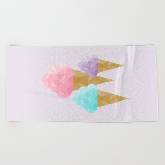 Geometric Ice Cream Beach Towel