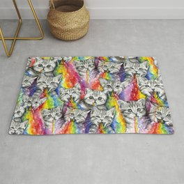 Kittens Puking Rainbows Pattern Rug