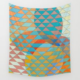 Triangle Pattern No. 11 Circles Wall Tapestry