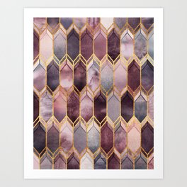 Dreamy Stained Glass 1 Art Print