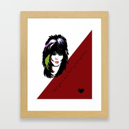 Bad Reputation | Joan Jett Inspired Lyric Art Print Framed Art Print