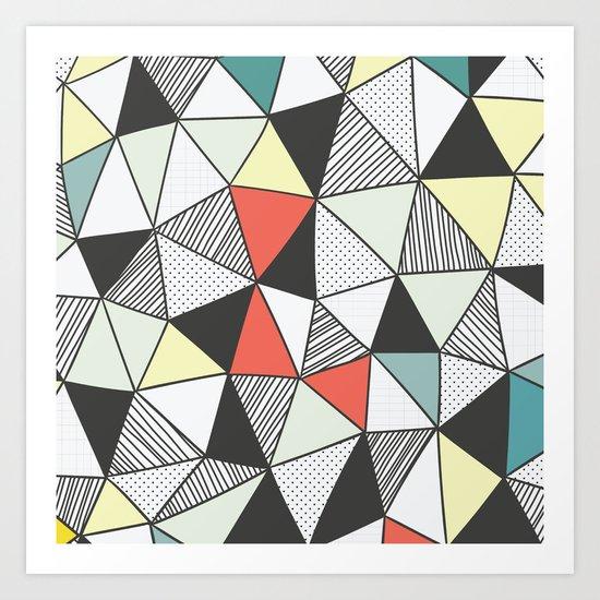 Triangular pattern Art Print